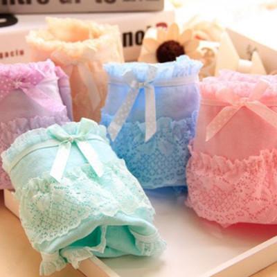 甜美蝴蝶結蕾絲舒棉內褲 (2.3折)