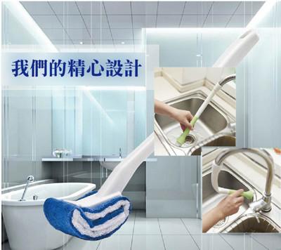 雙面強力去污馬桶刷/水龍頭連接清潔刷 (3折)