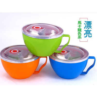 韓式雙層不鏽鋼保溫碗 (4.1折)