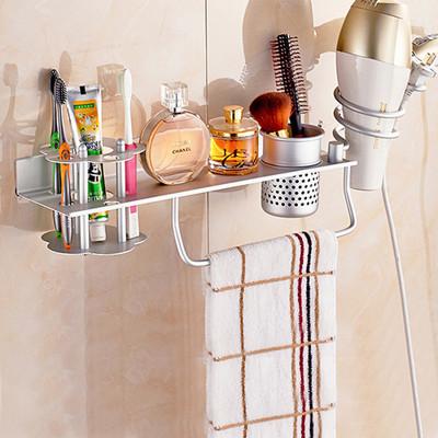 高質感太空鋁多功能浴室置物架 (3.8折)