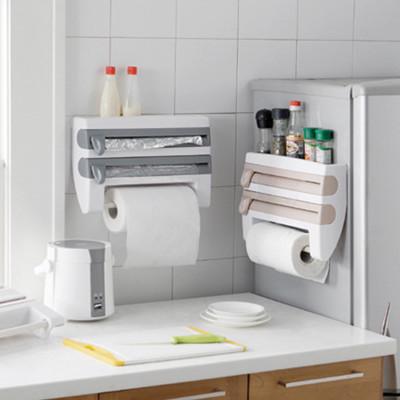 廚房雙層保鮮膜多用途置物收納架 (3.1折)
