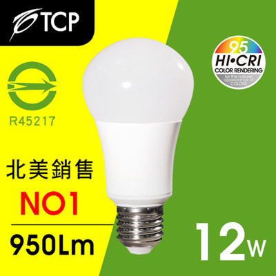 TCP RA95 LED燈泡12W黃光 (7.7折)
