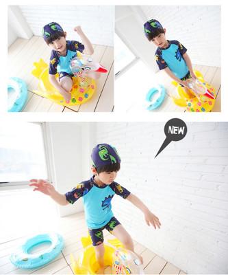 Ann's Goods男童兩截式可愛鯊魚泳衣 (4.4折)