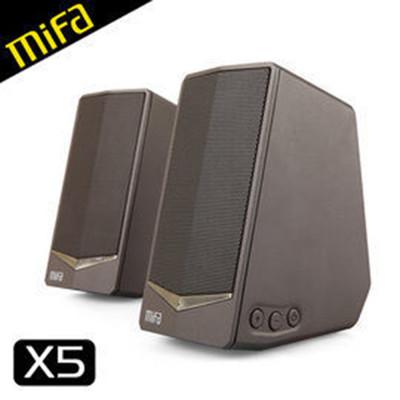 MiFa X5 兩件式桌上型Hi-Fi喇叭書架喇叭電腦喇叭時尚鋅合金機身迷你音響系統(非藍芽) (7.3折)
