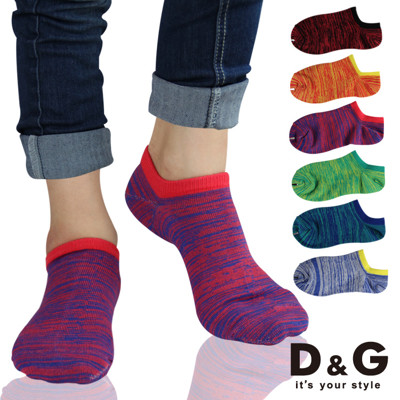 D&G複色亮彩女踝襪-D300 (襪子/短襪/低口襪) (5.6折)