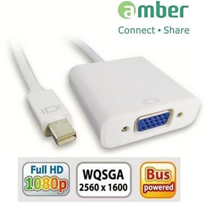 amber mini DisplayPort轉VGA訊號轉換線-Thunderbolt/VGA胖胖版 (4折)