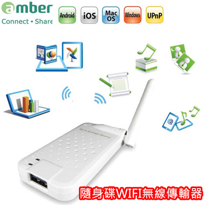amber 無線隨身碟 手機儲存空間無限大擴充,可使用APP立即上傳及下載影片/照片/音樂/文件 (4.9折)