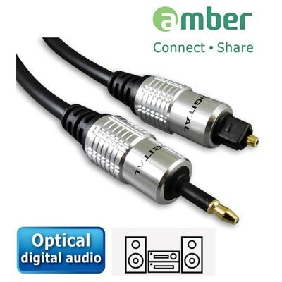 amber S/PDIF mini Toslink 對 Toslink光纖數位音訊傳輸線-1M (4.7折)