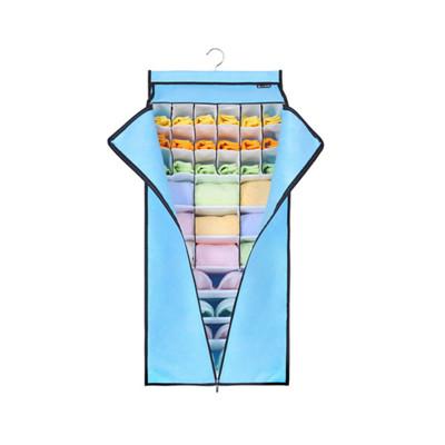 << igoole >> 衣櫥衣櫃多層內衣內褲襪子掛式收納整理袋-附拉門  #1422-1 (5.7折)