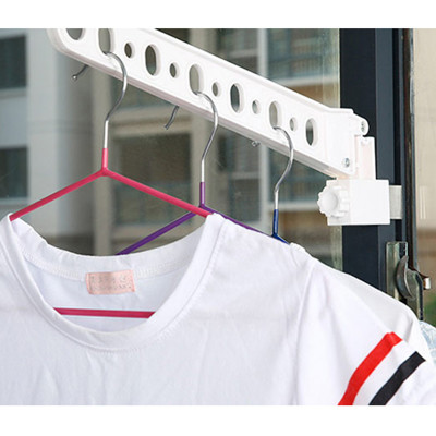 << igoole >> 窗框掛衣杆創意衣架陽台窗台晾衣服襪子曬衣架 #1386 (8.2折)