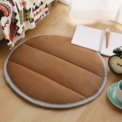 【HomeBeauty】細緻法蘭絨超厚款圓型地墊-直徑50cm-八色可選 (4.1折)