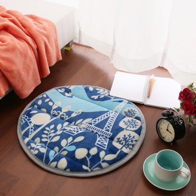 【Homebeauty】細緻法蘭絨超厚款圓型地墊-直徑50cm-六色可選 (4.1折)