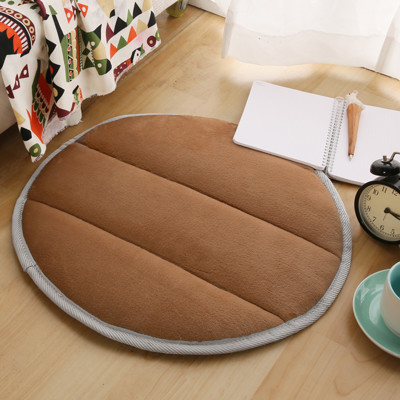 【Home Beauty】細緻法蘭絨超厚款圓型地墊-直徑50cm-8色 (1.9折)