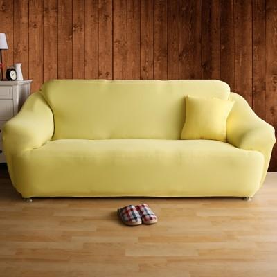 【Homebeauty】恆溫紗素色彈性沙發罩-3人座-五色可選 (5折)