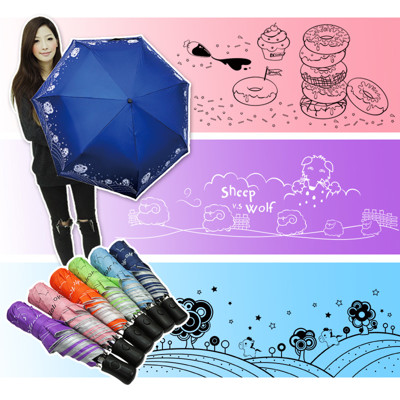 抗UV抗風自動晴雨傘 (3.3折)