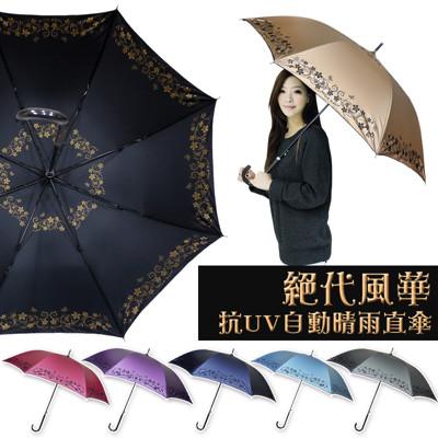 抗UV自動晴雨直傘 (3.6折)