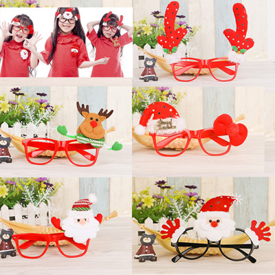 聖誕裝飾玩偶造型眼鏡框(多款可挑) (大人小孩皆可戴) (3.9折)