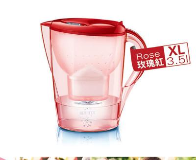 【德國BRITA 】馬利拉花漾濾水壺 MR-35-玫瑰紅【內含一支濾芯】 (4.5折)