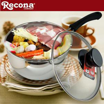 【Recona】頂級#304不鏽鋼日式雙喜單柄鍋 16cm W1620A (6.9折)