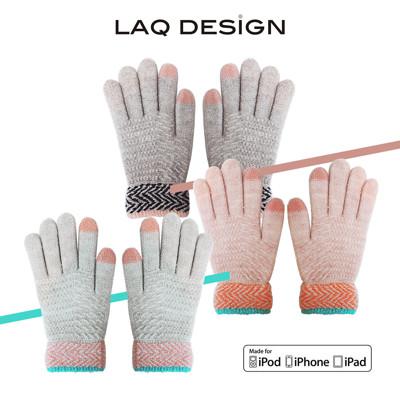 LAQ DESiGN 2TIPS 菱形波紋二指觸控手套 (6.2折)