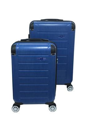 NINO1881時尚髮絲紋輕硬殼可加大行李箱20+25吋(限量款)(藍色) (6.3折)