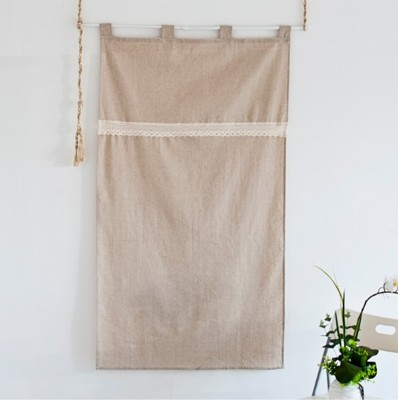 簡約宜家韓式素色棉麻布藝門簾布簾隔斷半簾掛簾櫃簾窗簾 (8.7折)