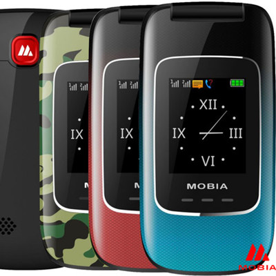 《MOBIA 摩比亞》M700 單卡2.4吋多彩摺疊機 軍人/孝親機 - 贈手機保護套 (6折)