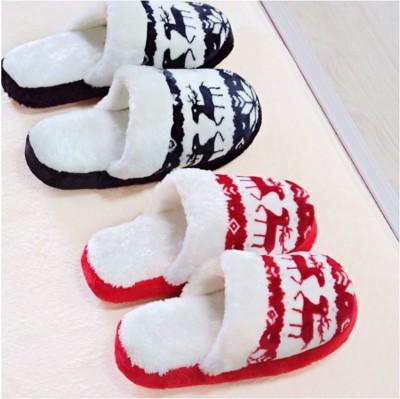 【聖誕禮物下殺↘↘↘↘】北歐聖誕麋鹿防滑拖鞋 室內拖鞋 (2.6折)