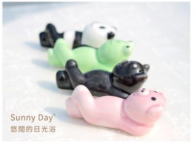 筷架 可愛萌系動物瓷器 筷子架 (3.4折)