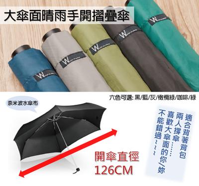 大傘面晴雨手開摺疊傘 (5折)