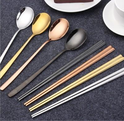 韓式不鏽鋼鈦金筷子湯匙 (3折)