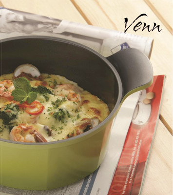 韓國NEOFLAM Venn系列 24cm陶瓷不沾湯鍋 EK-VE-C24 (4.3折)