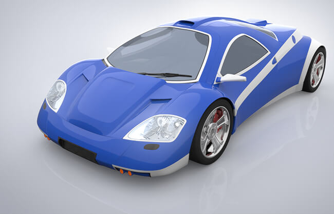 car compositing CGI