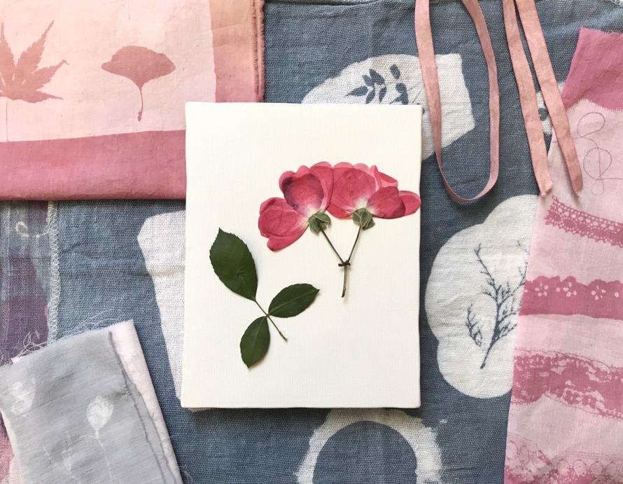 「お花で染めるわたしのリネンバッグ 」草木染めワークショップ開催!