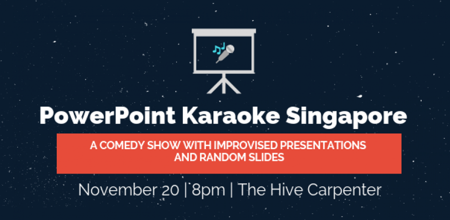 powerpoint karaoke comedy show with improvised presentations and