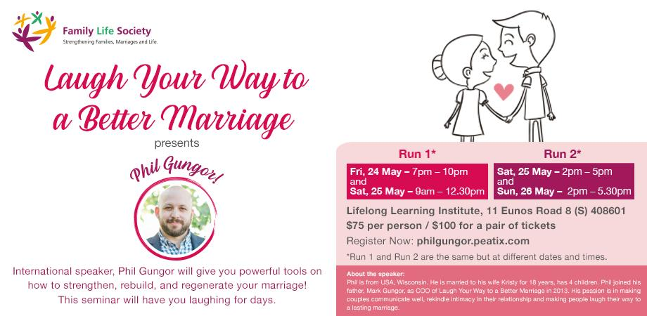 LAUGH YOUR WAY TO A BETTER MARRIAGE - PHIL GUNGOR | Peatix
