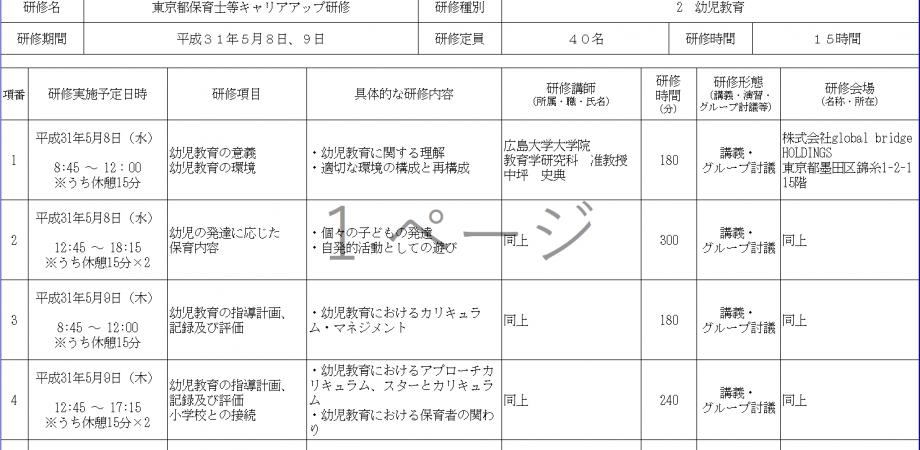 研修 キャリア アップ 東京 都