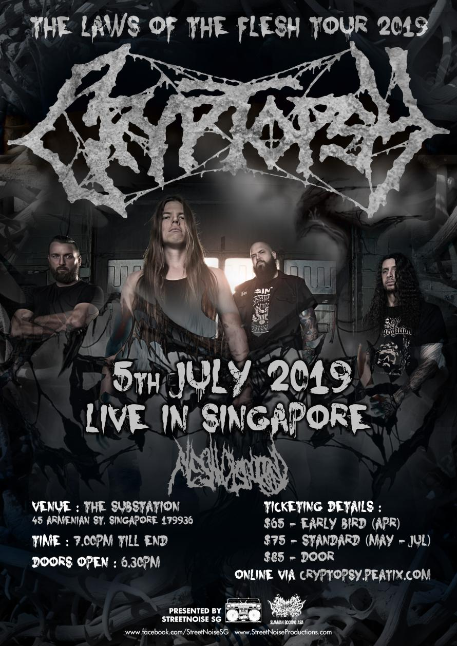 CRYPTOPSY (CAN) - The Laws Of The Flesh Tour 2019! Live in
