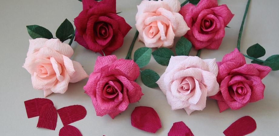 Crepe Paper Rose Workshop Peatix