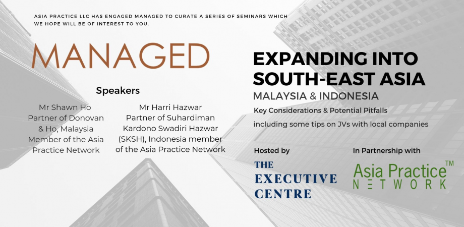 Growing SME Expanding into South East Asia - Malaysia and