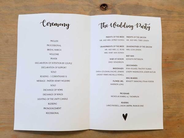 Booklet Wedding Program Template Thecbet Peatix