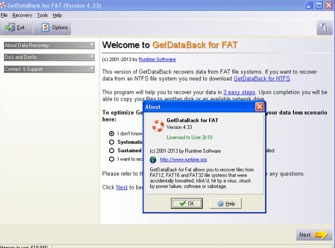 getdataback for ntfs  fat 4.33 serial key free download