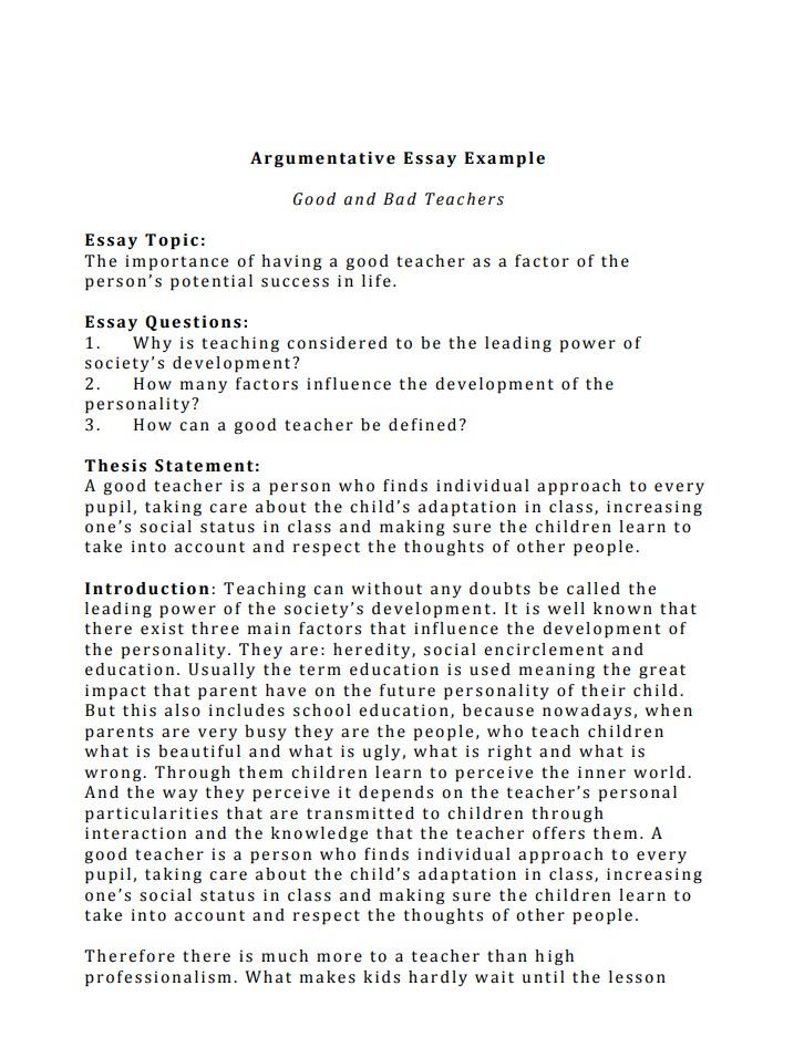 Argumentative Essay 500 Words | Peatix