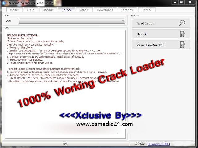 Samsung Z3x Crack