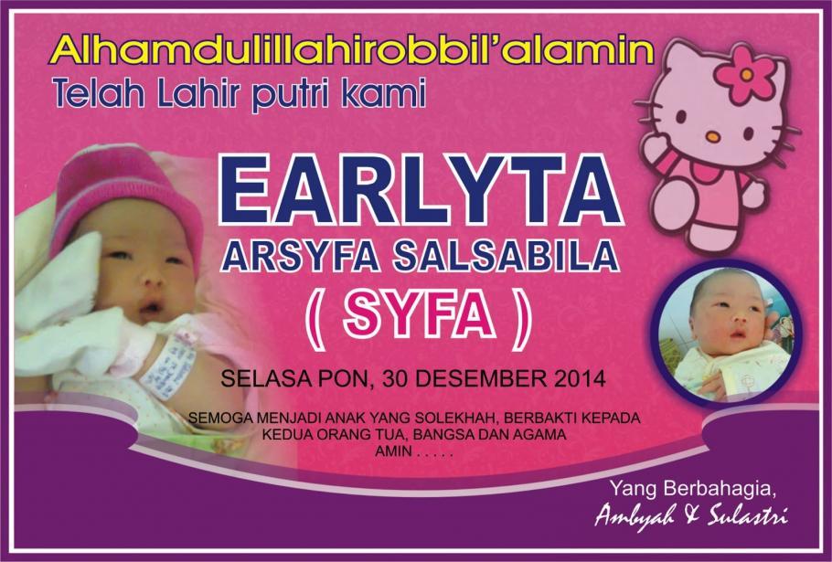 Desain Banner Nama Bayi Peatix