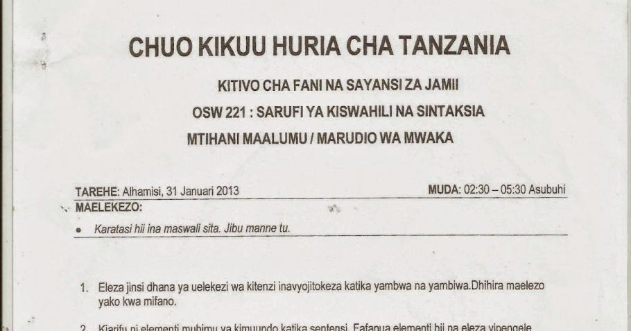 Sarufi Ya Kiswahili Pdf 14 Peatix