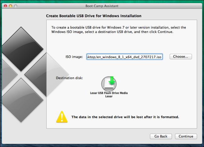 Create bootable drive mac