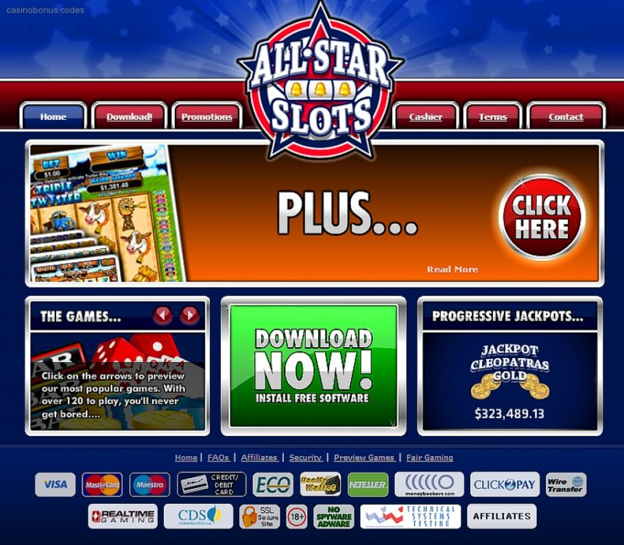 All star slots no deposit bonus