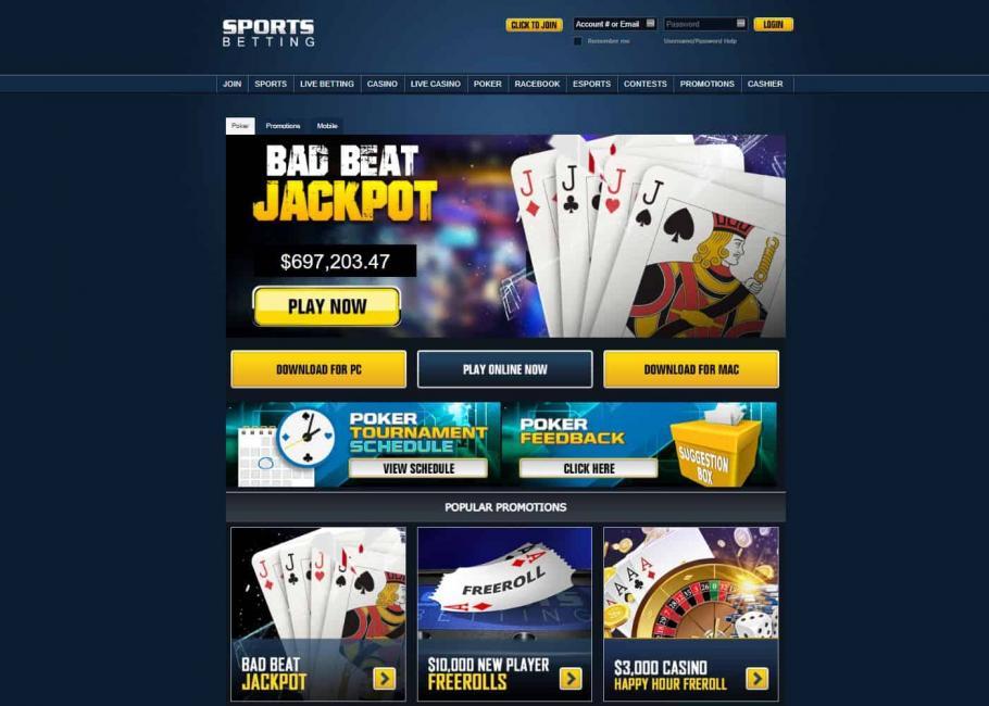 sportsbetting poker download