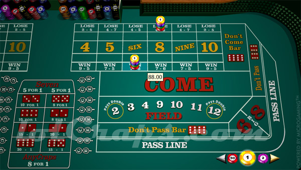 paying odds on craps bets